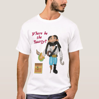 Where be the Parrrty? Balloon Pirate Shirt