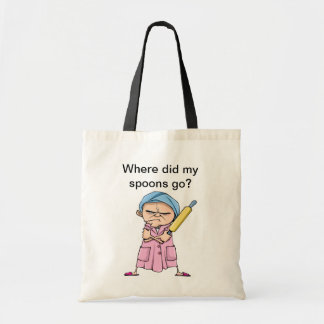 Where did my spoons go? tote bag