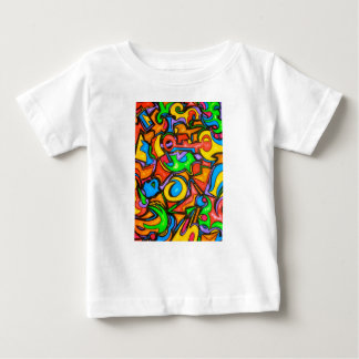 Where Did You Hide The Candy?-Abstract Art Baby T-Shirt