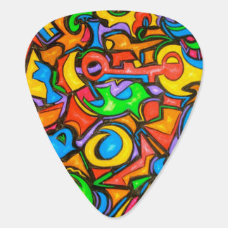 Where Did You Hide The Candy? - Abstract Art Guitar Pick