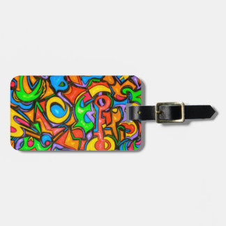 Where Did You Hide The Candy-Abstract Luggage Tag