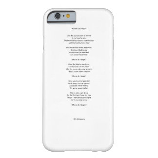 Where Do I Begin Barely There iPhone 6 Case