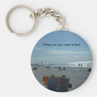 Where do you want to be? keychain