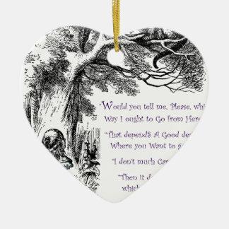 Where Do You Want To Go Ceramic Heart Ornament