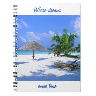 Where dreams come true customized paradise beach notebooks