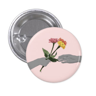 Where Flower Blooms, So Does Hope 1 Inch Round Button
