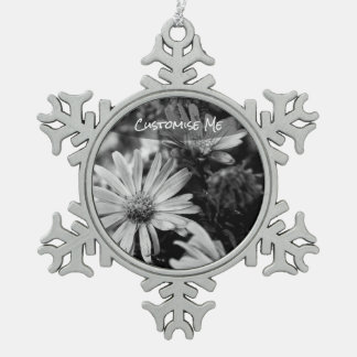 Where Have All The Flowers Gone Snowflake Pewter Christmas Ornament
