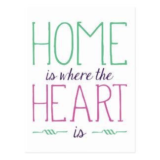 Where Heart Is Postcard