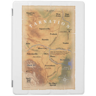 Where in Tarnation? (Funny Map) iPad Cover