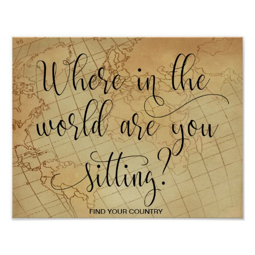 Where in the world are you sitting poster