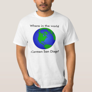 Where in the World is Carmen San Diego? Shirt