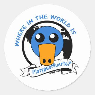 Where in the World is PlatypusMuerte Classic Round Sticker