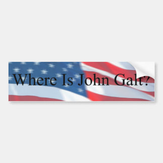 WHERE IS JOHN GALT-FLAG BUMPER STICKER