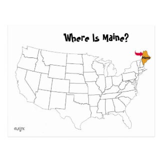 Where Is Maine? Postcard