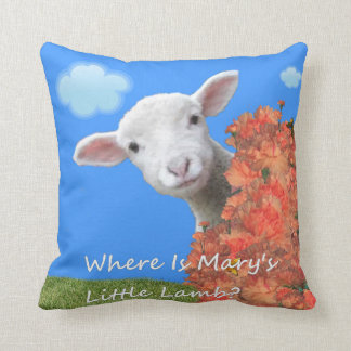 Where Is Mary's Little Lamb? Throw Pillow