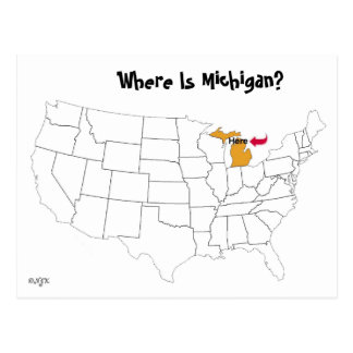 Where Is Michigan? Postcard