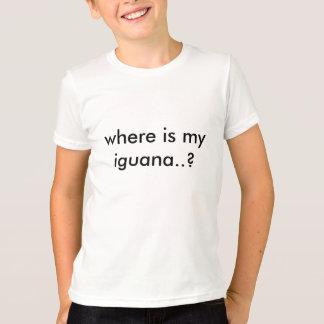 where is my iguana..? T-Shirt