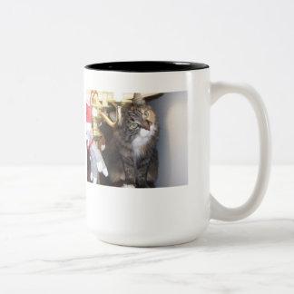 Where is my sock monkey? Two-Tone coffee mug