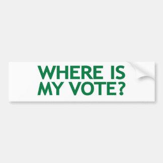 where is my vote (Iran Election) Bumper Sticker