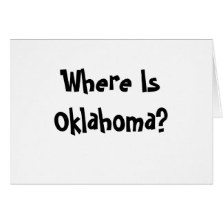 Where Is Oklahoma? Card