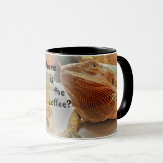 Where is the coffee Funny Orange Beardie Print Mug