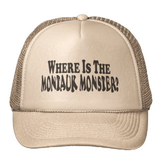 Where Is The Montauk Monster? - Two Lines Trucker Hat