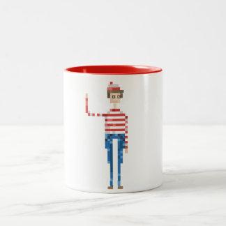 """Where is Waldo?"" Pixel Illustration Mug"