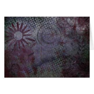 Where is Your Focus? Typography Rustic Abstract 2 Card