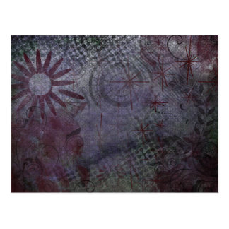 Where is Your Focus? Typography Rustic Abstract 2 Postcard