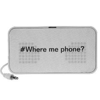 #Where je téléphone ? Haut-parleur portatif !