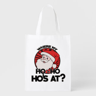 Where my ho ho ho's at reusable grocery bag