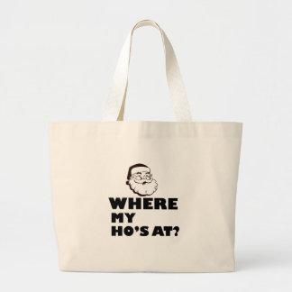 where my Ho's at Large Tote Bag