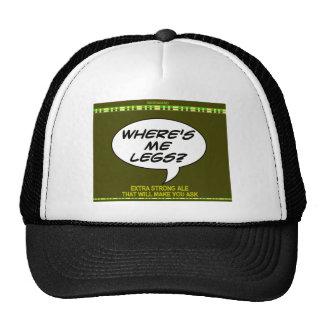 Where s Me Legs Beer Trucker Hats