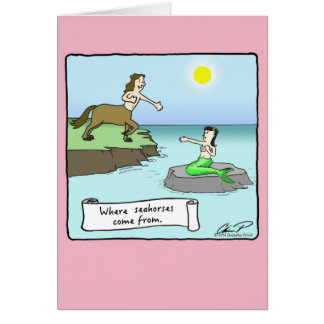 """""""Where Seahorses Come From"""" Valentine's Day Card"""