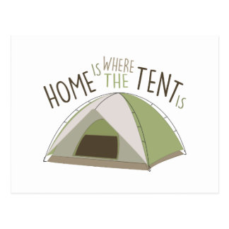 Where Tent Is Postcard