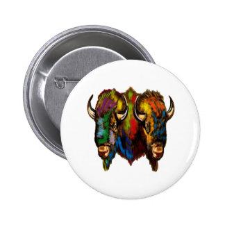 Where the buffalo roam 2 inch round button