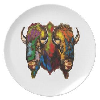 Where the buffalo roam party plate