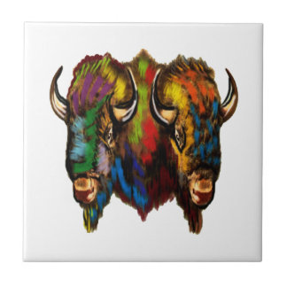 Where the buffalo roam tile