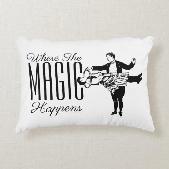 Where The Magic Happens Your Background Colour Decorative Pillow