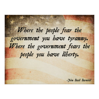 Where the People Fear the Government Poster