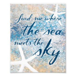 Where the sea meets the sky nautical ocean art photographic print