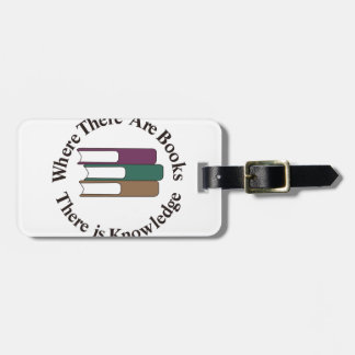 Where There are Books Bag Tag