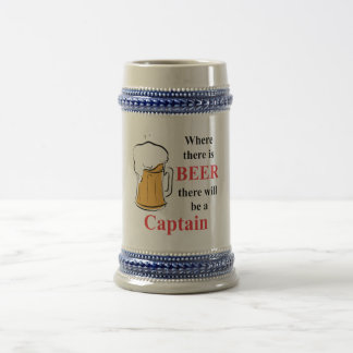 Where there is Beer - Captain Beer Stein