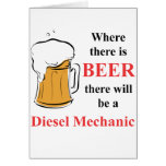 Where there is Beer - Diesel Mechanic Cards