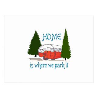 Where We Park It Postcard
