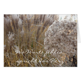 Where words are missing (autumn grass) - to card