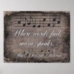 Where Words Fail -- Music Quote - Print