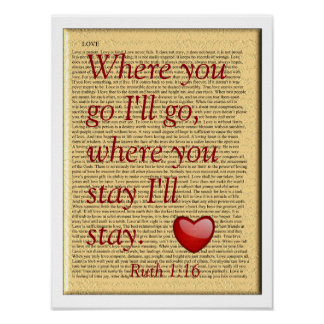 Where you stay - Ruth 1:16 - poster print