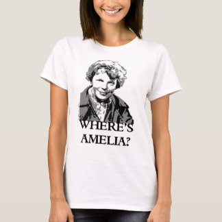 Where's Amelia Earhart Woman Aviation Spleeburgen T-Shirt