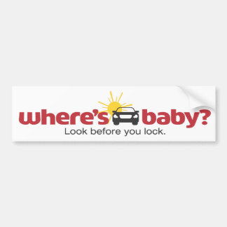 Where's Baby Look before you lock Safety Sticker